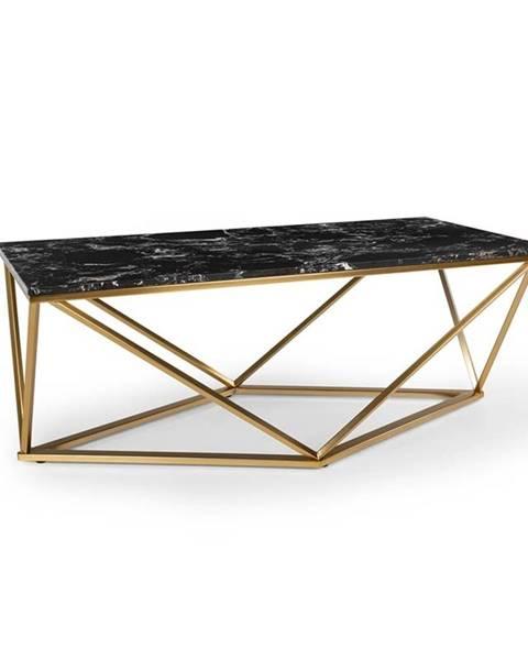 Besoa Besoa Black Onyx I, konferenční stolek, 110 x 42,5 x 55 cm (Š x V x H), mramor, zlatý/černý