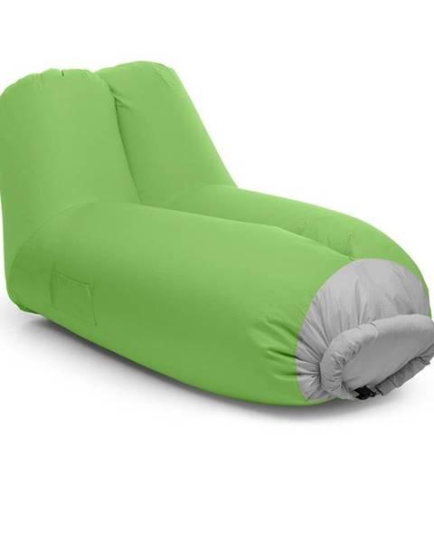 Blumfeldt Blumfeldt Airlounge, nafukovací sedačka, 90 x 80 x 150 cm, batoh, pratelná, polyester, zelená