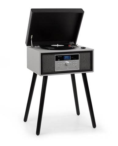 Auna Mary Ann, gramofon, 33/45/78 otáček / min, CD, DAB +, UKW, BT, USB, černo / šedý