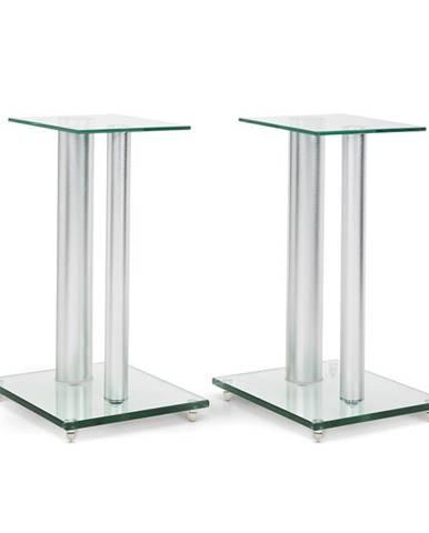 Auna Pár stojanů na reproduktory, sklo, hliník, s nosností <10 kg