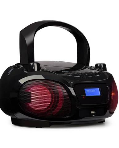Auna Roadie DAB, CD přehrávač, DAB/DAB+, FM, LED disko světelný efekt, bluetooth, černý