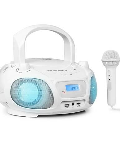 Auna Roadie Sing, CD boombox, FM rádio, světelná show, CD přehrávač, mikrofon, bílý