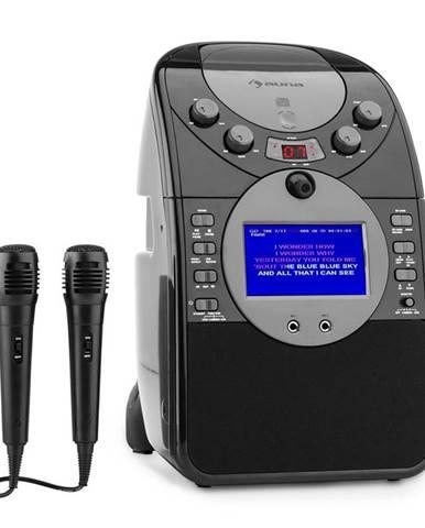 Auna ScreenStar, černý, karaoke systém, kamera, CD, USB, SD, MP3, včetně 2 mikrofonů