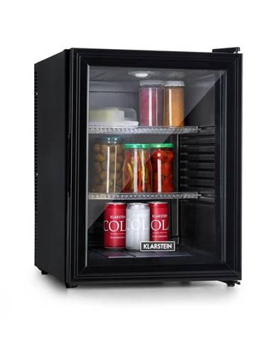 Klarstein Brooklyn 42, chladnička, energetická třída A, skleněné dveře, černý interiér, černá