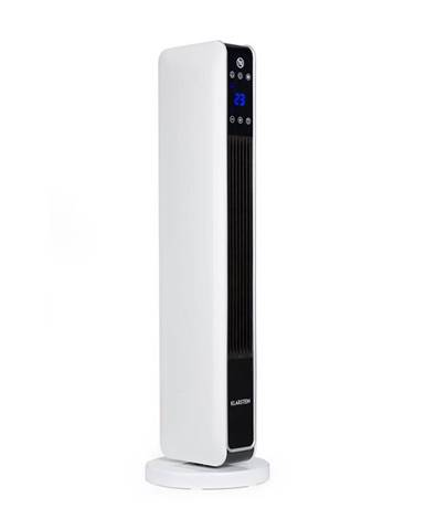 Klarstein Hightower Heat, keramický teplovzdušný ventilátor, sloupový, 2200 W, termostat, 49 °C, bílý