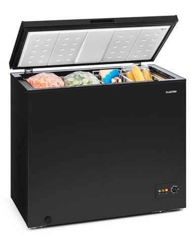 Klarstein Iceblokk 200, truhlicový mrazák, mrazící box, A +, 200 litrů, 2 závěsné koše, kolečka, černá