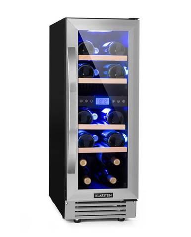 Klarstein Vinovilla Duo 17 2zónová chladnička na víno, 53l, 17 lahví, 3 barvy, skleněné dveře