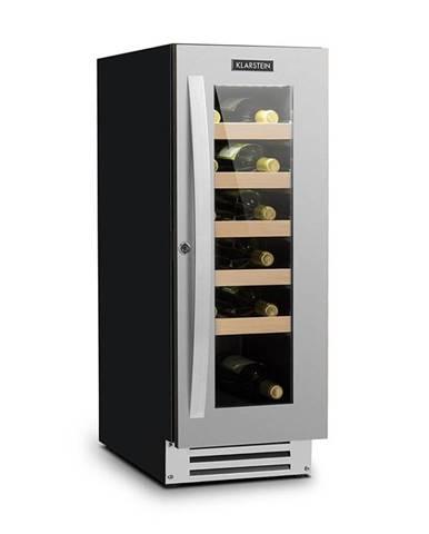 Klarstein Vinovilla Smart, vinotéka, lednička, 50 l / 20 lahví, skleněné dvířka, nerezová ocel