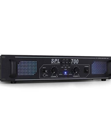 Skytec SPL-700 černý, DJ PA zesilovač 2000W ekvalizér LED