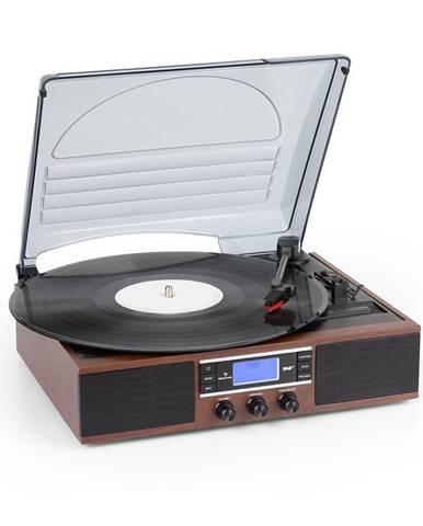 Auna TT-138 DAB, gramofon, DAB + / FM, řemenový pohon, 33/45 ot./min., linkový výstup