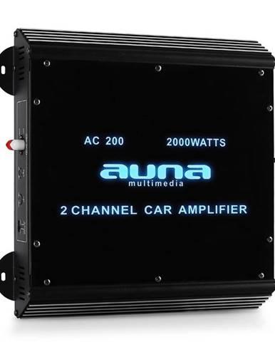 Auna W2-Ac200, 2-kanálový zesilovač do auta, 2000W