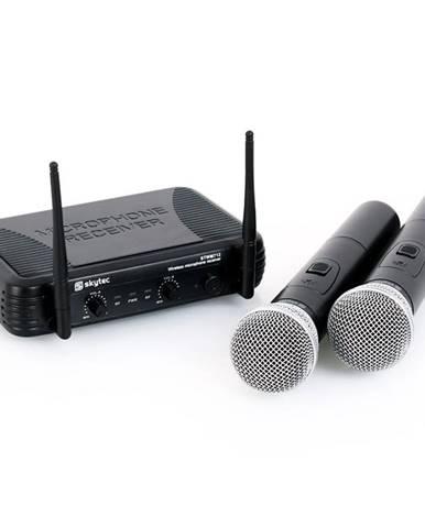 Bezdrátový mikrofonový set Skytec STWM712, 2 kanály
