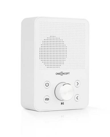 OneConcept Plug+Play FM, rádio do zásuvky, FM tuner, USB, BT, bílé