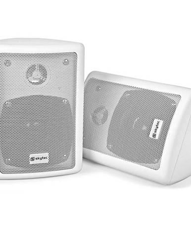 Skytec pár 2pásmových stereo reproduktorů, bílé, 75 W max., včetně montážního materiálu