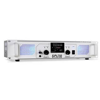 Skytec SPL-700 MP3 bílý, PA zesilovač 2000W, USB/SD/MP3