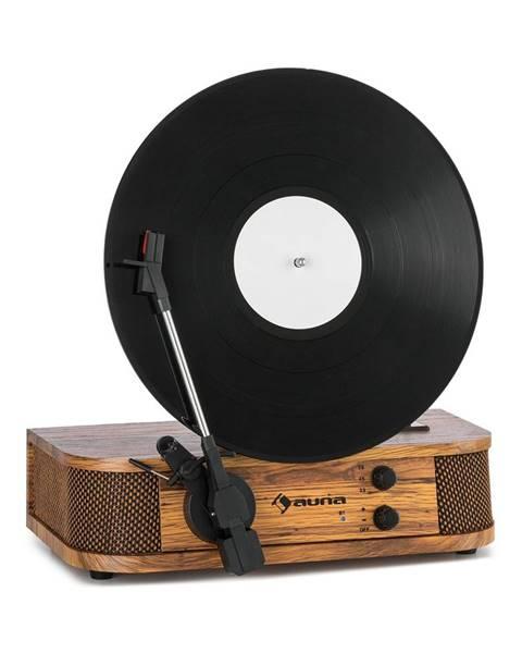 Auna Auna Verticalo, SE, retro gramofon, USB, BT, linkový vstup, dřevo