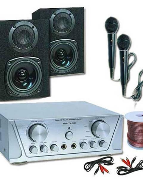 Electronic-Star Electronic-Star Hi-Fi set HVA 200 + MC 130 + 2 mikrofony – karaoke