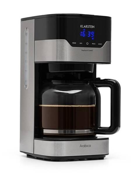 Klarstein Klarstein Arabica 900W, kávovar, 1.5 l, Easy-touch control, stříbrno/černý