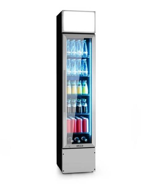 Klarstein Klarstein Berghain, chladnička na nápoje, 160 l, RGB vnitřní osvětlení, 230 W, 2-8°C, ušlechtilá ocel