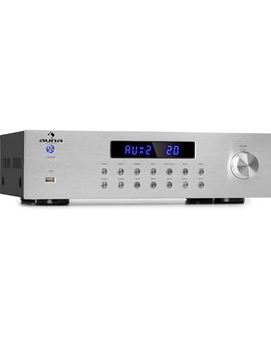 Auna AV2-CD850BT, 4-zónový HiFi stereo zesilovač, 8 x 50 W RMS, bluetooth, USB, stříbrný