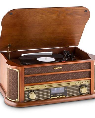 Auna Belle Epoque 1908 DAB, retro stereo systém, gramofon, DAB +, bluetooth
