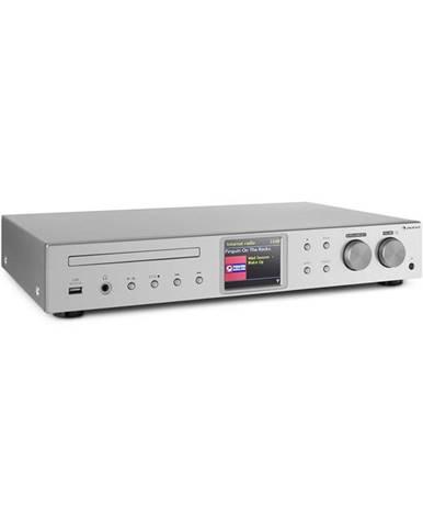 Auna iTuner CD, HiFi receiver, Internet/DAB+/FM rádio, CD přehrávač,WiFi, stříbrný
