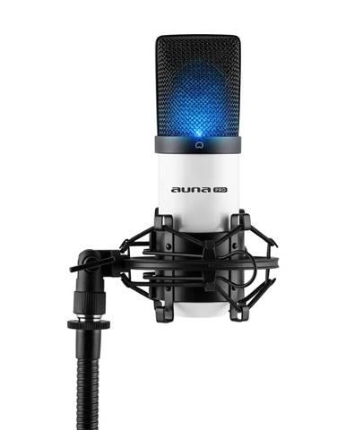 Auna Pro MIC-900-WH LED bílý, USB, kondenzátorový mikrofon, kardioidní, studiové