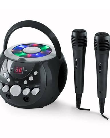 Auna SingSing, přenosný karaoke systém, LED, provoz na baterie, 2x mikrofon
