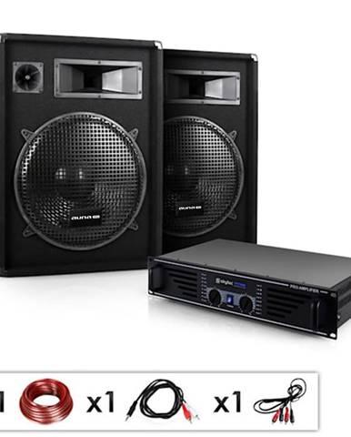 "Electronic-Star DJ PA kompletní set""Miami Quasar"",zesilovač,2 x reproduktory"