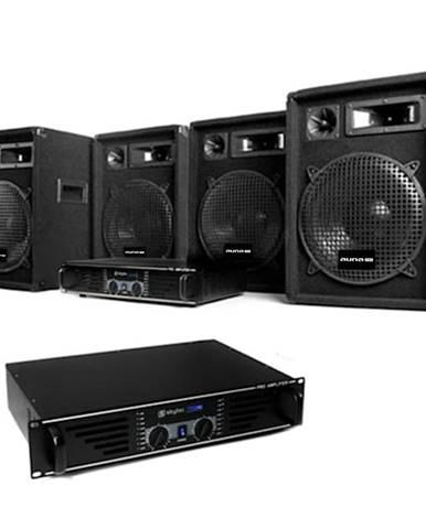 "Electronic-Star DJ sestava ""Miami Nights Pro"", 2 x zesilovač, 4x repro"