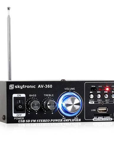 Hi-fi stereo zesilovač Skytronic AV-360, USB, SD, MP3, AUX,