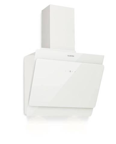 Klarstein Aurica 60, odsavač par, 60 cm, 610 m³/h, LED, dotykový, sklo, bílý