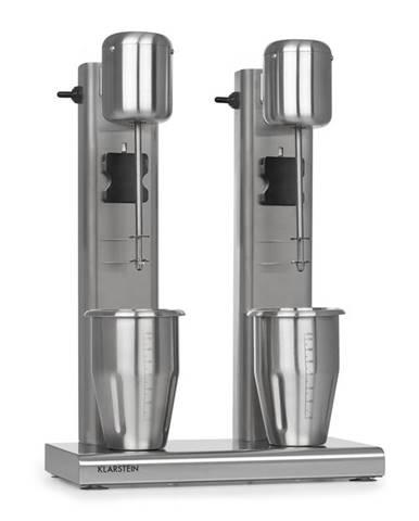 Klarstein KraftPaket II, dvojitý mixér na mléčné koktejly, teinové koktejly, 160 W, ušlechtilá ocel