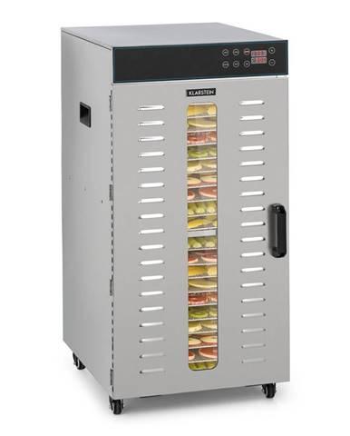 Klarstein Master Jerky 300, sušička potravin, 2000 W, 40 - 90 ° C, 24 hod. časovač, ušlechtilá ocel, stříbrná
