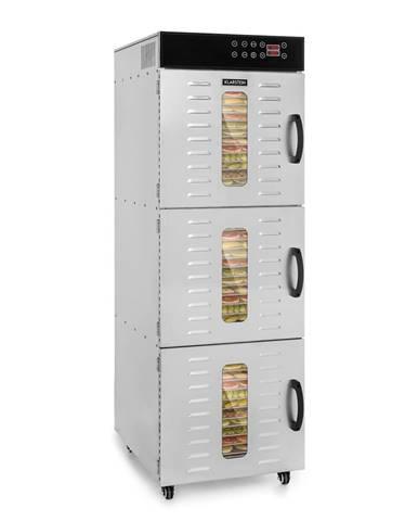 Klarstein Master Jerky 550, sušička potravin, 2400 W, 40 - 90 ° C, 24 hod. časovač, ušlechtilá ocel, stříbrná