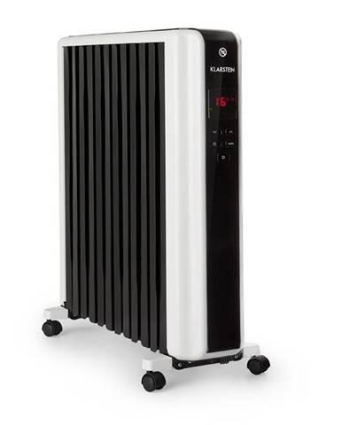 Klarstein Thermaxx 2500, olejový radiátor, 2500 W, 5 - 35 ° C, 24 hodin. časovač, bílý / černý
