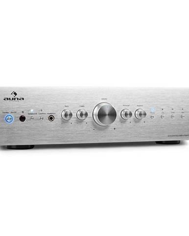 Stereo zesilovač Auna CD708, AUX phono, stříbrný, 600 W