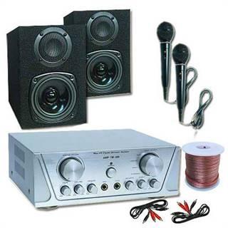 Electronic-Star Hi-Fi set HVA 200 + MC 130 + 2 mikrofony – karaoke