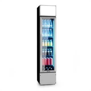 Klarstein Berghain, chladnička na nápoje, 160 l, RGB vnitřní osvětlení, 230 W, 2-8°C, ušlechtilá ocel