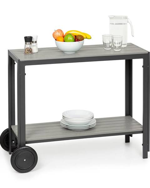 Blumfeldt Blumfeldt Menorca Roll, servírovací stolek, 2 kolečka, polywood, hliník, týk