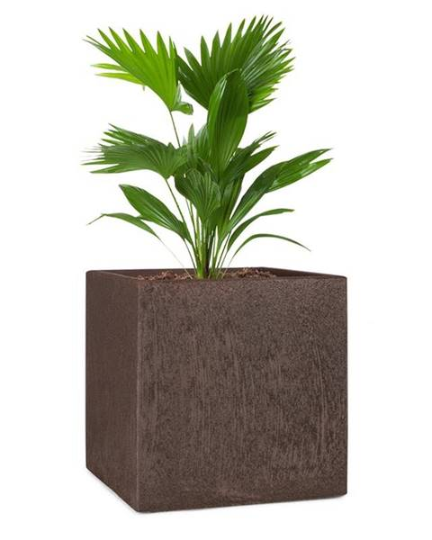 Blumfeldt Blumfeldt Solid Grow Rust, květináč, 40 x 41 x 40 cm, fibreclay, rezavá barva