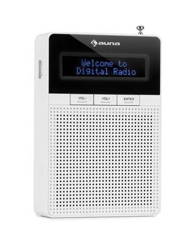 Auna DigiPlug DAB, rádio do zásuvky, DAB+, FM/PLL, BT, LCD displej, bílé