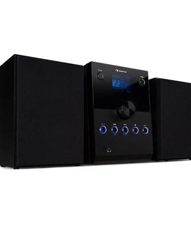 Auna MC-30, DAB mikrosystém, 2 reproduktory, DAB+, FM, bluetooth, CD přehrávač, černý