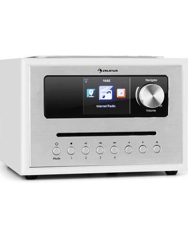 Auna Silver Star CD Cube, rádio, bluetooth, HCC displej, bílé