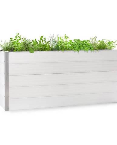 Blumfeldt Nova Grow, zahradní záhon, 195 x 91 x 100 cm, WPC, dřevěný vzhled, bílý