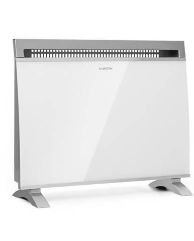 Klarstein Gotland, skleněný konvektorový ohřívač, 600/900/1500 W, samostatně stojící, bílý