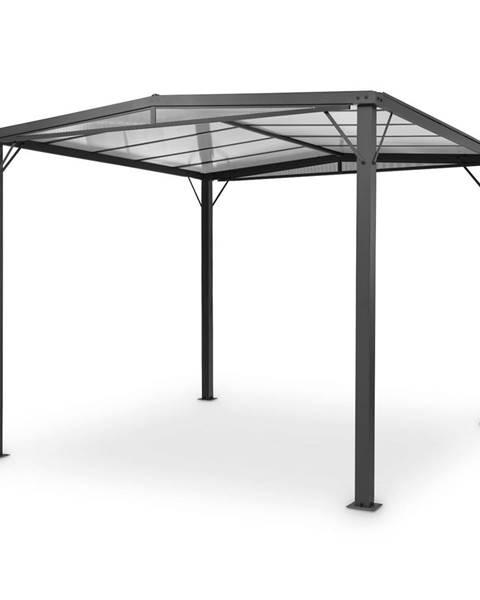 Blumfeldt Blumfeldt Pantheon Solid Sky Flat, pergola, přístřešek, 3x3m, polykarbonát, šedá