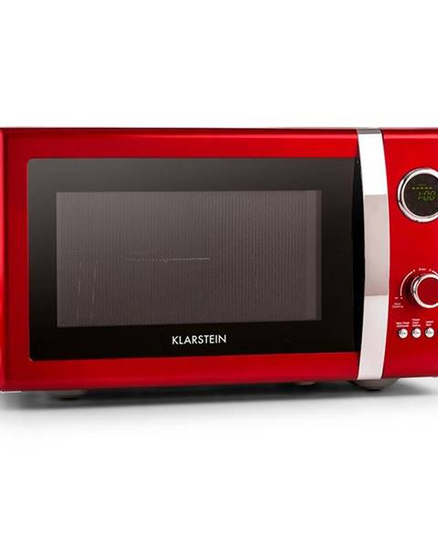 Klarstein Klarstein Fine Dinesty, 1000 W, 23 l, 2 v 1 mikrovlnná trouba, retro, 12 programů, červená
