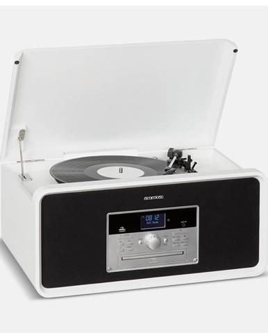 Auna Bella Ann, stereo systém, gramofon, rádio, DAB+/FM, USB, bluetooth, bílý