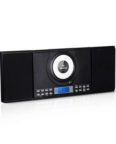 Auna Wallie, mikrosystém, CD přehrávač, bluetooth, USB port, dálkové ovládání, černý